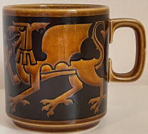 Vintage Hornsea England Dragon Coffee Mug Ceramic