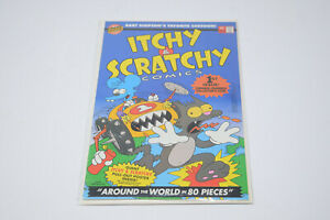 1993 Itchy and Scratchy Comics Vol #1 Around the World in 80 Pieces w Poster