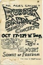 "Rubber Bandits / Paisley Brain Cells / The Hollow Bodies Show Flyer 5.5""x8.5"""