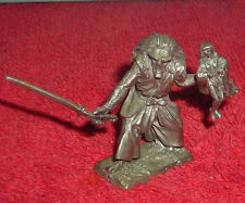 "Solid Pewter Ogre Holding Girl 2"" Figurine"
