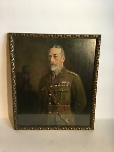 Vintage Framed  Copy Of A Painting By John Archibald Berrie Of King George V