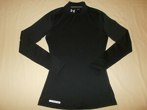 UNDER ARMOUR COLD GEAR LONG SLEEVE BLACK FITTED MOCK TOP WOMENS SMALL EXCELLENT