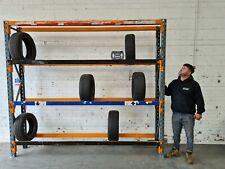 Used Dexion Speedlock Tyre Bay - 2300mm x 2730mm x 450mm - 4 Levels