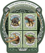 Maldives 2016 MNH Dinosaurs Fauna & Flora of World 4v M/S Afrovenator Stamps