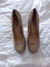 """Brand new gold glitter 5"""" high heels/stilettos - Size 8 (42)"""