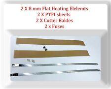 "2 Kits12""/300mm Width 8 mm Flat Heating Element /PTFI sheets/Cutter Blades/Fuses"