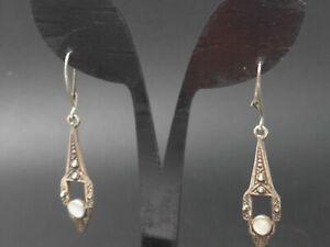 Paar Ohrringe 925 Sterling SILBER Silver Perlmutt Hand  earrings