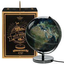 Wild & Wolf City Lights Globe 12 inch Light Up Plug In Stainless Steel Base