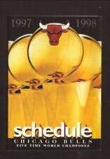 Chicago Bulls--1997-98 Pocket Schedule--Wards