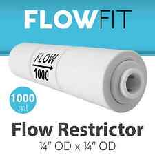 Reverse Osmosis Flow Restrictor with Quick Connect 1000 ML for 100+ GPD Membrane