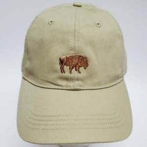 Baseball Cap ~Buffalo  Embroidered Design  Adjustable / Tan
