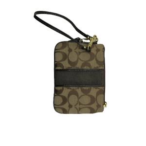 """Coach Womens Bag Purse Wallet Wristlet Brown 6 x 4.5"""""""
