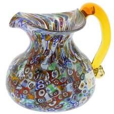 GlassOfVenice Murano Glass Millefiori Pitcher or Carafe