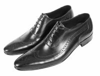 Men Real Leather Shoes Handmade Caasual Dress Leather Sole UK Size 6 To 9