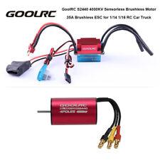 Hot GoolRC S2440 4000KV Brushless Motor & 35A ESC for 1/16 1/14 RC Car B3D9