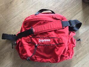 Used Vintage Supreme 2004 Record Laptop Courier Bag Red Backpack Rucksack