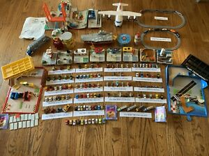 Huge Lot! Micro Machines Galoob 1987-1989 collection, 113 Veh, Trains & playsets