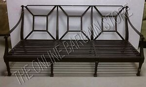 Frontgate Cast Aluminum Metal Outdoor Patio Sofa Chair Carlisle Couch Frame