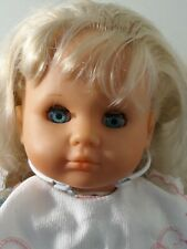 """Vintage 1988 Max Zapf 18"""" Doll Soft Rubber Except For Plush Body Baby"""