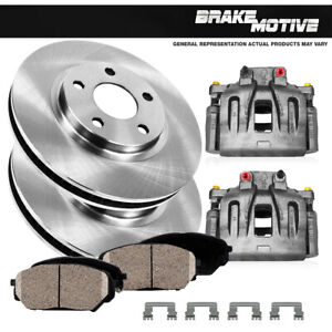 Front Brake Calipers Rotors & Pads For 2000 2001 2002 2003 - 2005 LEXUS IS300