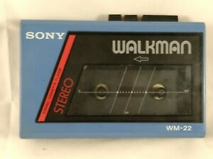 Sony WM 22 VTG Walkman cassette player torn box Motor spins used India Made