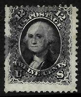 Sc #69 Jumbo Margin Misperf 12 Cent Washington 1861-62 Civil War US 56D65
