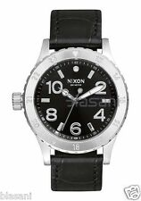 Nixon Original 38-20 Leather A467-1886 Black Gator 38mm Watch