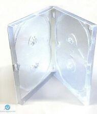 1 x 4 Way clair DVD Multibox 15 mm [4 Discs] Vide De Remplacement Neuf Amaray Case