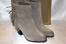 NEW! NIB! ASH Stone Suede Leather QUICK Pull On Fringe Boots 10 EU40 $250
