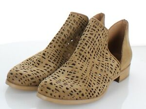 52-44 $350 Women's Size 40 M Ron White Pryce Perforated Bootie In Caramel