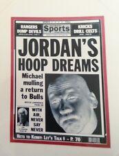 Michael Jordan Original 1995 Ny Daily News Printing Plate, Chicago Bulls