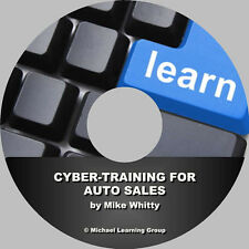 Auto Sales Training - Cyber-Training for Auto Sales eBook on CD
