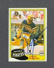 Omar Moreno signed Pittsburgh Pirates 1981 Topps baseball card