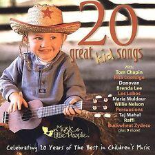 FREE US SH (int'l sh=$0-$3) ~LikeNew CD Various Artists: 20 Great Kids Songs