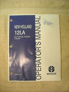 New Holland operators manual for 12LA for TC21DA & TC24DA tractors