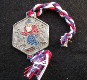 Antique Skiing Krakonos Czech Mountain God Nature Protector Key Chain Ring