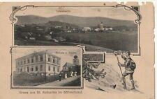 St.Katharina im Böhmerwald - 1916 - Postablage Neuern - Nýrsko - Klattau  ------