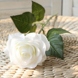 20/10Heads Real Touch Latex Rose Flower Wedding Bridal Bouquet Home Oarty Decor