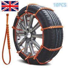 10x Car Anti-skid Snow Tyre Tire Chains Beef Tendon Wheel Nylon Chain Belt RLTS