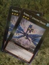 Yugioh 2x Number 17: Leviathan Dragon - BP01-EN027 - Rare - 1st Edition - NM