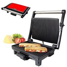 Acier inoxydable rouge santé grill et panini maker machine de presse avec plateau d'égouttement
