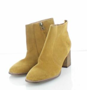 A11 NEW $158 Women's Sz 10 M Madewell Bryce Suede Chelsea Boot - Mustard