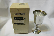 Vintage International Silver Plate Wine Glass Goblet Cup Water NIB