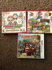 Mario & Luigi: Superstar Saga + Bowser's Minions (Nintendo 3DS, 2017) & More