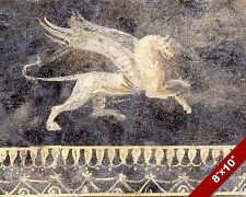ANCIENT ROME FRESCO MYTHICAL FLYING ANIMAL PAINTING HISTORY ART CANVAS PRINT