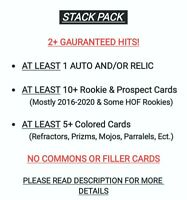 🔥2+ HITS🔥STACK PACK Baseball Card RePack RC Lot Grab Bag Auto Relic SP NO JUNK
