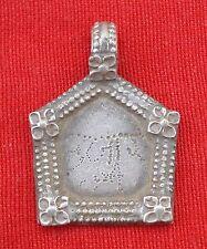 Vintage Antique Tribal Old Silver Pendant Indian