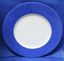 Christofle Blue Marble Set of 12 Service Plates (Charger) Chop Plate Near Mint