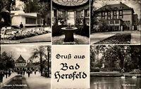 Bad Hersfeld Hessen Mehrbild-AK ~1950/60 Brunnenhalle Kurhotel Badehaus Kurpark