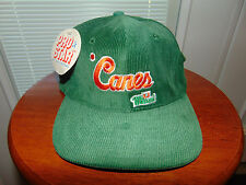 90s Miami Hurricanes COLLEGE Football Cap Canes CORDUROY Hat SNAPBACK 1990's NEW
